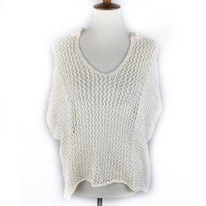 HOLLISTER Sleeveless Knit Crochet Hoodie